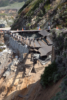 Rocky Creek Landslide, Big Sur March 17, 2011 photo by Pat Hathaway