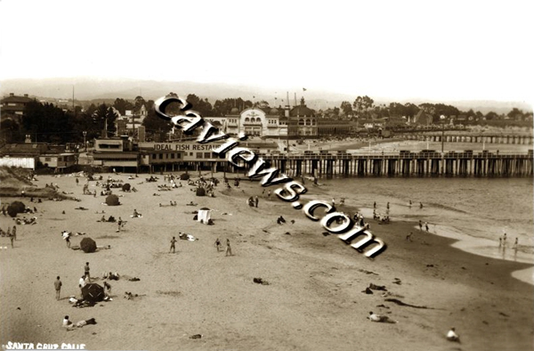 Santa Cruz Beach, 1930, Copyright©1998 California Views